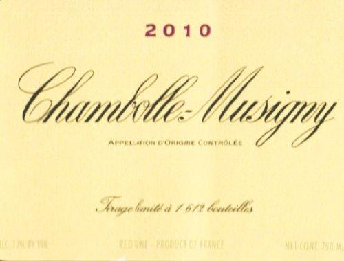 2010 Domaine De La Vougeraie Chambolle Musigny 750 Ml