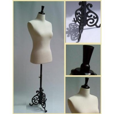 Female Dressmakers Mannequin Size 10/12 Tailors Display Bust on a Cast Iron Stand