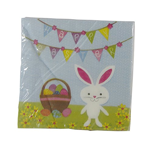 Happy Easter Bunny Napkins - Pack of 18 - 1