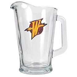 Golden State Warriors NBA 60oz Glass Pitcher - Primary Logo