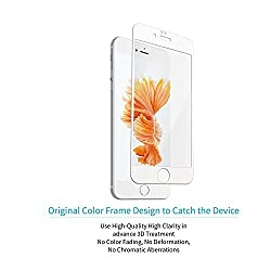 For : Apple iPhone 6 Plus / 6S Plus CASSIEY 3D Edge to Edge Fiber Full Cover Body Screen Protector Guard for Apple iPhone 6 Plus / 6S Plus -White