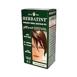 Herbatint Permanent Herbal Haircolour Gel 6C Dark Ash Blonde -- 135 mL