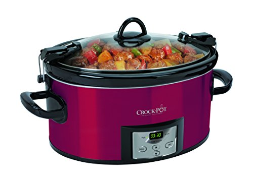 Crock-Pot SCCPVL610-R-A Programmable Cook and Carry Oval Slow Cooker, Digital Timer, Red (Stoneware Pot compare prices)