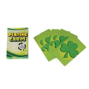Shamrock St Patrick's Day Regulation Size Playing Cards