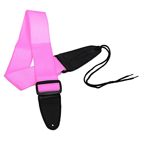 Performance Plus Gs1Pk Electric/Acoustic Guitar Strap With Ties, Pink