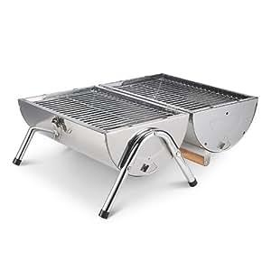 Barbecue a carbone carbonella in acciaio inossidabile portatile picnic giardino - Barbecue portatile a carbonella ...