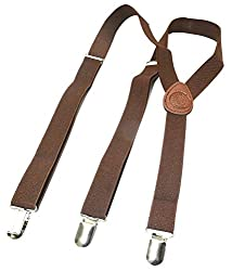 Michelangelo Metal Clip Suspenders (Brown)