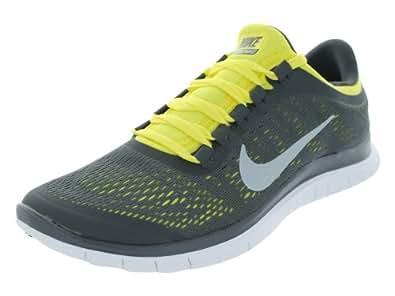 New Nike Free 3.0 V5 Grey/Yellow Mens 7.5