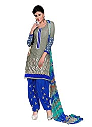 Balle Balle Grey colored dress material