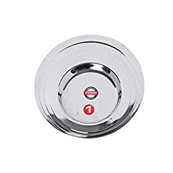 Embassy Stainless Steel Ciba Tope Lid, Set of 4 (Small Sizes 7-10; 12.4, 14, 15.2, 17 cms)