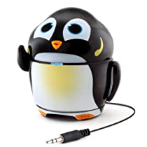 GOgroove Groove Pal Penguin Kid-Friendly Animal Speaker w/ Rechargeable Battery & Portable Design for Smartphones , Tablets , MP3 Players & More