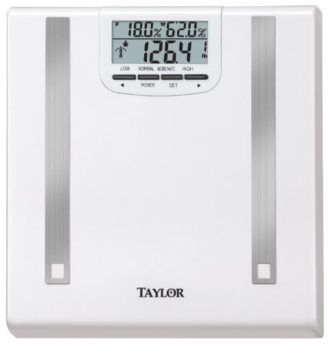 Image of Taylor Scales 5768 350 Pound Scale with Body Fat and Body Water Measurements (57684012F)