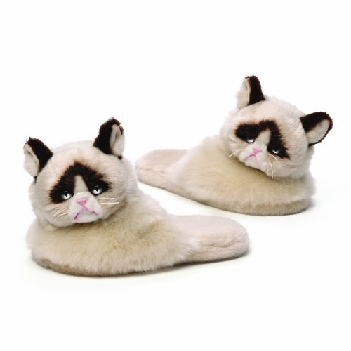 Gund Grumpy Cat Adult Sized Slippers
