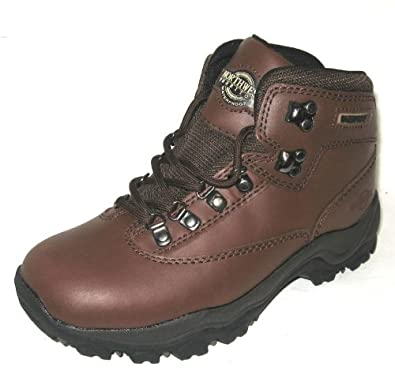 Elegant Ankle Boots Womens 75 M B Brown Leather Hiking Brown Combat Granny E