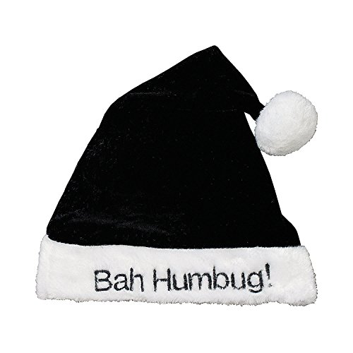 Bah Humbug~Santa Claus hat-sofy velour with plush trim