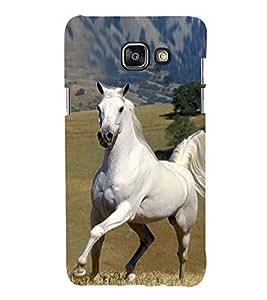 Elegant White Horse 3D Hard Polycarbonate Designer Back Case Cover for Samsung Galaxy A3 (2016) :: Samsung Galaxy A3 2016 Duos :: Samsung Galaxy A3 2016 A310F A310M A310Y :: Samsung Galaxy A3 A310 2016 Edition