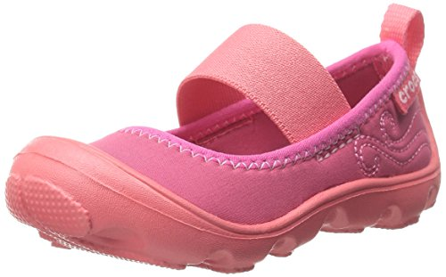 Crocs Duet Busy day PS, Mädchen Mary Jane Halbschuhe, Pink (Coral/Raspberry 6MO), 23/24 EU