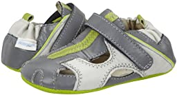 Robeez Baby Boys\' Rugged Rob (Infant) - Gray - 2 (3-6 Months)