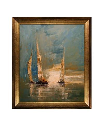 Justyna Kopania Boats Framed Canvas Print