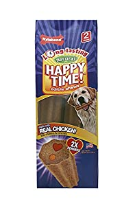 Nylabone Happy Time Medium Twin Pack Chicken Flavored Dog Treat Bones