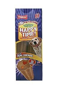 Nylabone Happy Time Medium Twin Pack Chicken Flavored Dog Treat Bones