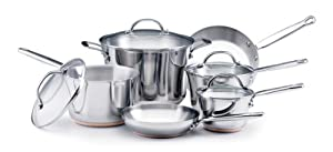KitchenAid Gourmet Distinctions Stainless Steel 10-Piece Cookware Set