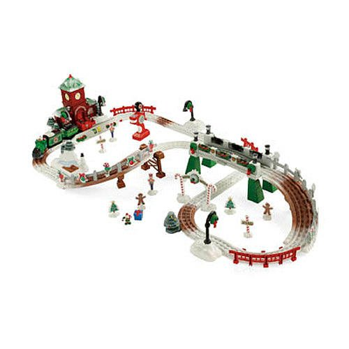 Fisher-Price Geo trax Christmas in Toytown Parts Skate Rink Track with Lights