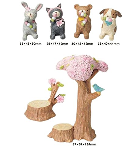 Childhood Memory Series/Lovely Animals/Resin Figurine Doll Decorations