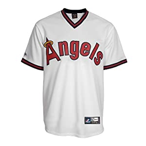 MLB Reggie Jackson #44 Angels Cooperstown Replica Jersey by Majestic