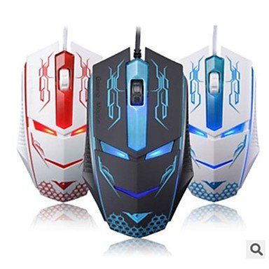 USB Wired Gaming Mouse 1600 DPI 3D With Colorful LED Light Luminous - B010UZYHXK