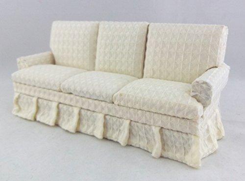 Puppen-haus-miniatur-wohnzimmer-Mbel-Klassische-Moderne-Creme-3-sitzer-sofa