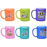 Laxmi Collection (Pack Of 6) Plastic Milk Mug For Kids, Return Gifts For Kids Birthday Party (For More Gifts Search...