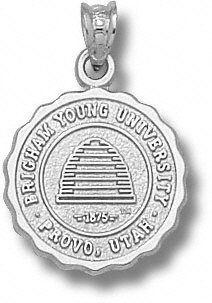 BYU Cougars Solid Sterling Silver Scalloped Seal Pendant