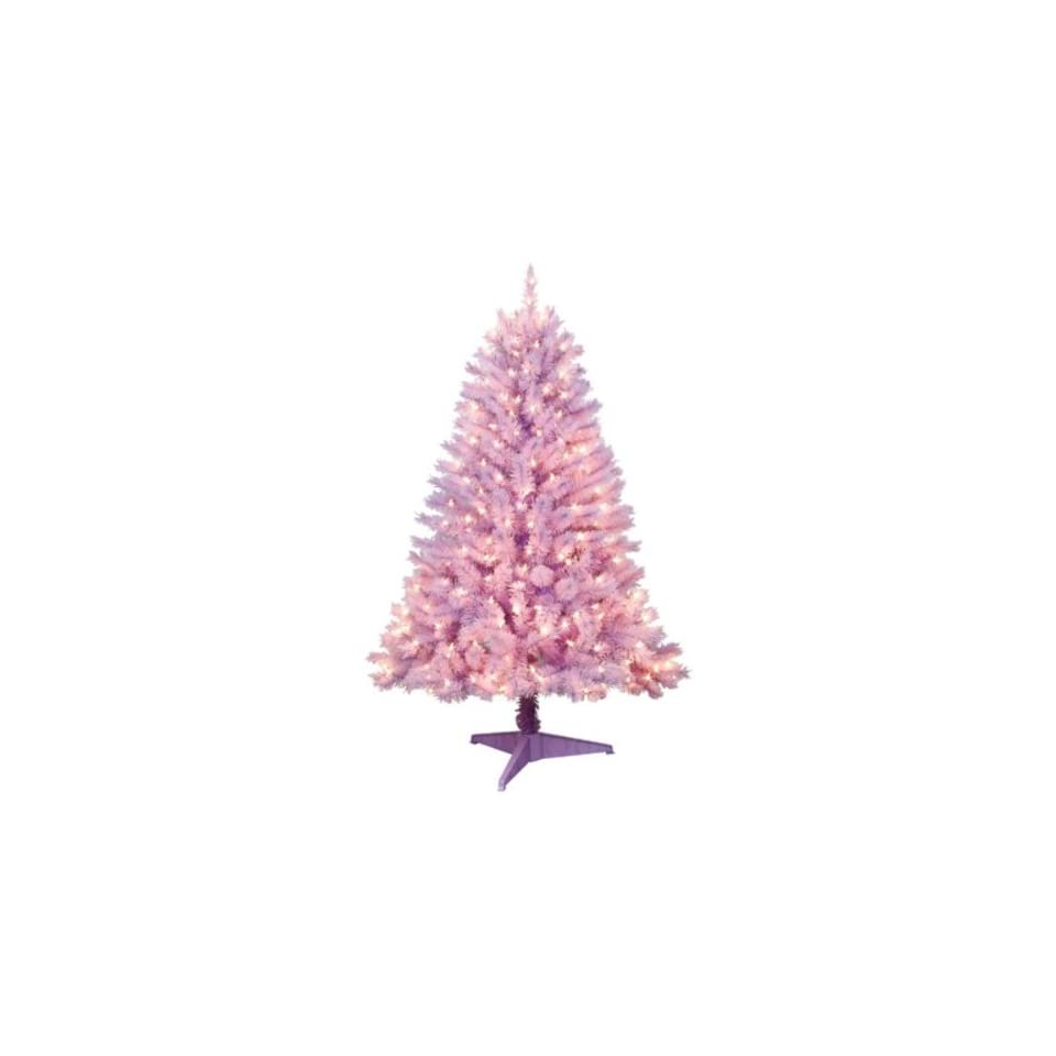 Trim a Home 4.5ft Hamilton Purple Spruce Christmas Tree with Clear Lights