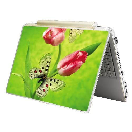 Bundle Monster Laptop Notebook Skin Sticker Cover Art Decal   12 14 15   Fit HP Dell Asus Compaq   Green Butterfly