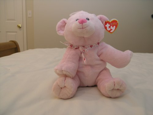 """Ty Pluffies Amore 9"""" Pink Bear"""