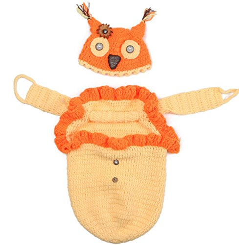 Nine States New Born Baby Infant Crochet Knitted Fox Costume Set Photograph Prop