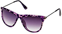 Joe Black Oval Sunglasses (Black and Purple) (JB-480|C3)