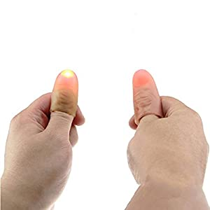 1 Pair Funny Novelty LED Light Flashing Fingers Magic Trick Props