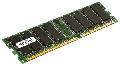 Crucial 1GB DDR 333Mhz, PC2700, Unbuffered, Non-ECC, 184-Pin DIMM Desktop Memory Upgrade CT12864Z335