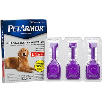 PETARMOR Topical Flea & Tick Treatment for Dogs & Puppies, For Dogs 45-88 lbs.