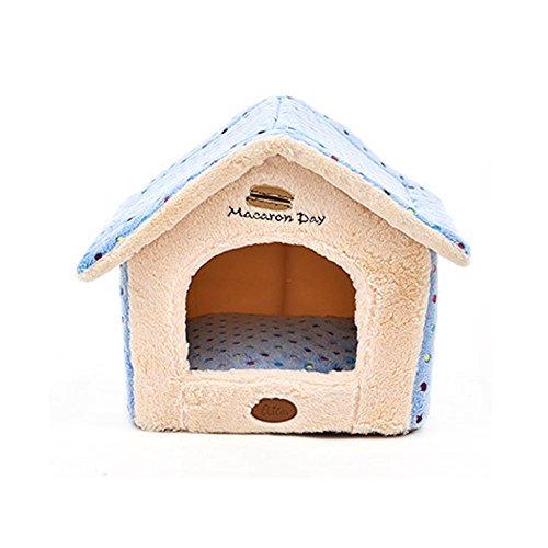 elite-polka-dot-niedliche-house-form-hundebett-geeignet-fur-kleine-hunde-winter-bestseller-blau-pink