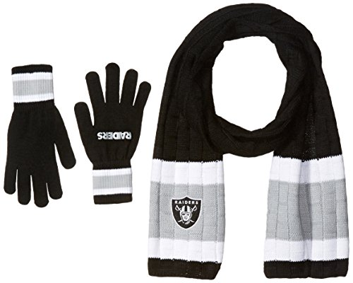 nfl-oakland-raiders-adult-scarf-glove-gift-set-one-size-black