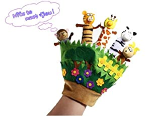 Get Cute Animal Story Telling Finger Puppet Glove Toy