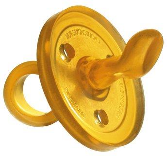 Goldi Beruhigungssauger in abgeschrägter Form aus Naturkautschuk (S (0-6 Monate))