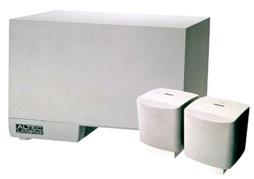 Altec Lansing Acs45.2 Powercube Speaker System With 20 Watt Subwoofer/3Watt Satellites (3-Piece)