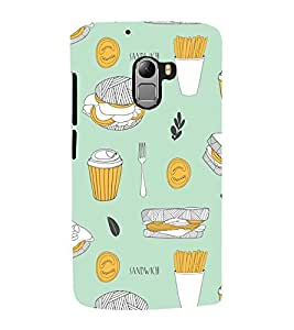 99Sublimation Animated Fast food pattern 3D Hard Polycarbonate Back Case Cover for Lenovo K4