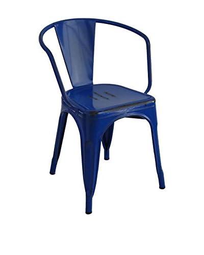 LO+DEMODA Set Silla 2 Uds. Moskov Vintage Colors Azul
