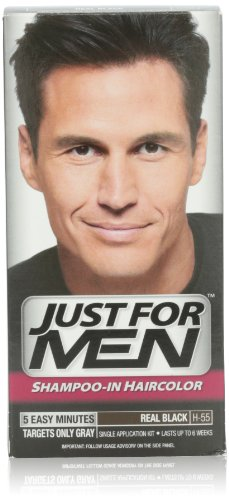 Just for Men Shampoo-In Hair Color, Real Black