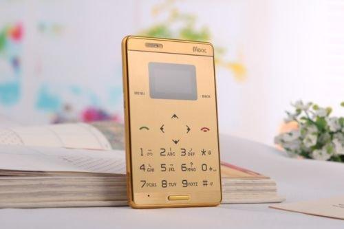 Golden Mini Ultra Slim JAVA Touch Screen Mobile Phone GSM Quadband MP3 Bluetooth Aiek M3